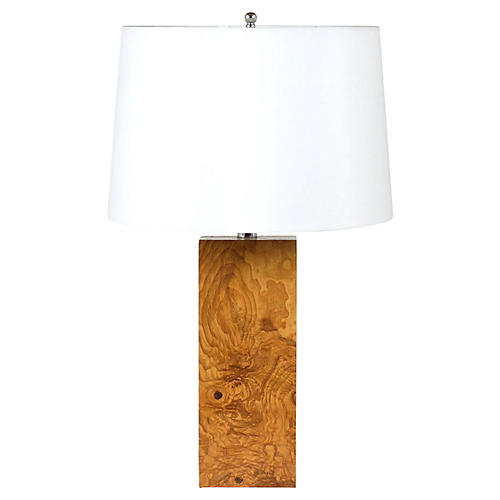 Modern-style Burl Wood Table Lamp