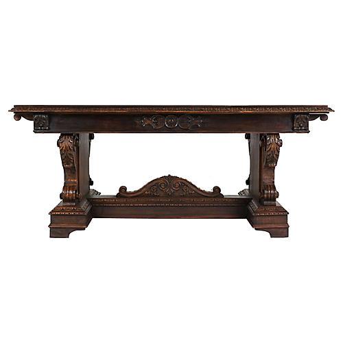 Italian Renaissance Trestle Dining Table