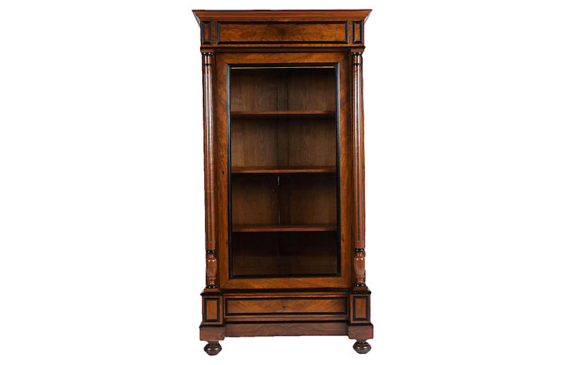 Late 19th Century French Walnut Bookcase