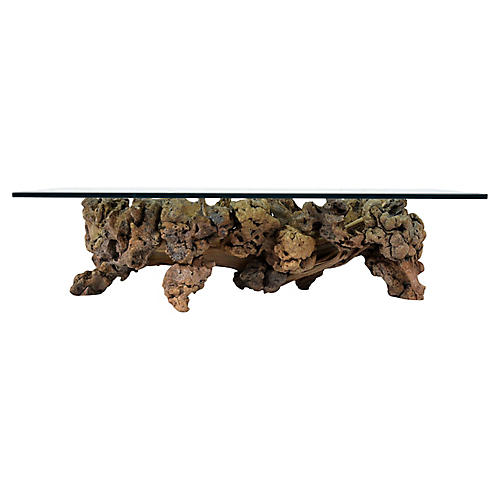 Burl Root Wood Coffee Table