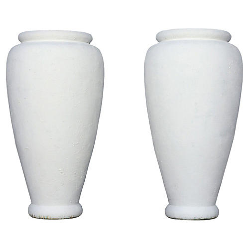 Patio Urns, Pair