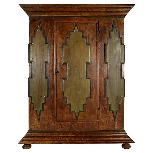 19th Century Baroque Single Door Armoire