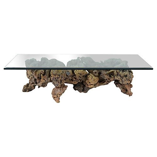 Burl Root Wood Coffee Table