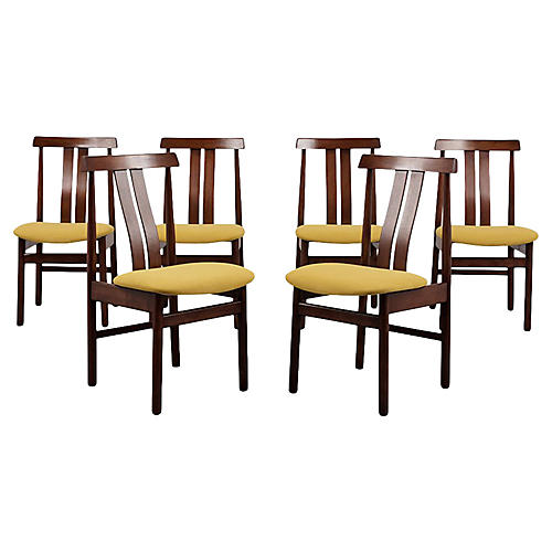 Set of Six Modern Style Dining Chairs
