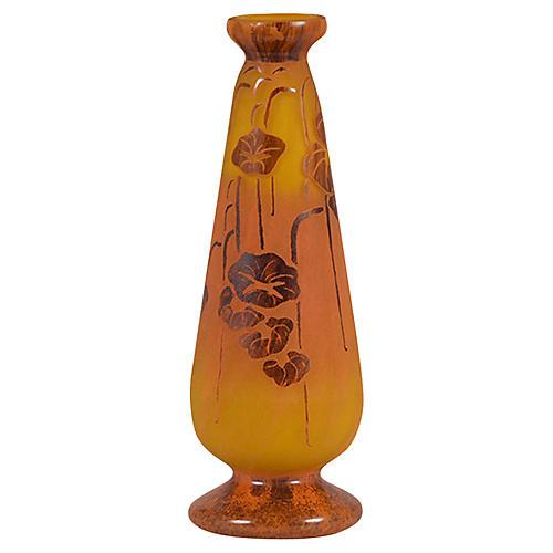 Romanian Cameo Art Glass Vase