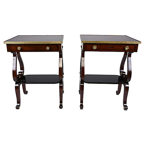Pair of English Regency Style Side Table