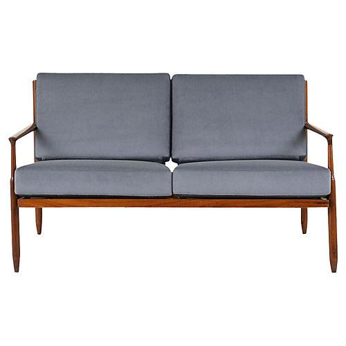 Vintage Modern New Upholstery Loveseat