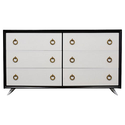 Lacquered Modern Chest of Drawers