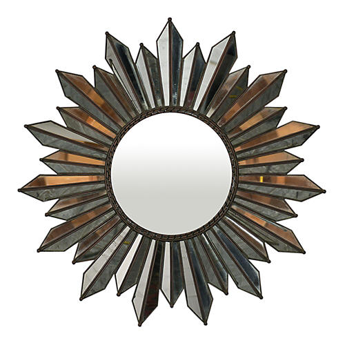 Midcentury Regency Sunburst Mirror