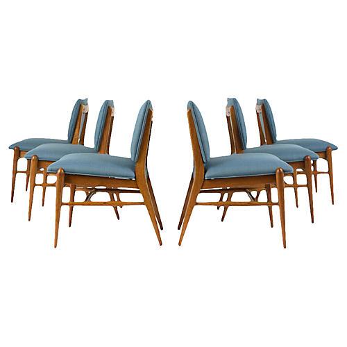 Set of Six John Keal Dining Room Chairs