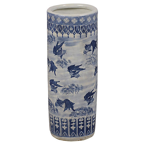 Chinoiserie Porcelain Umbrella Stand