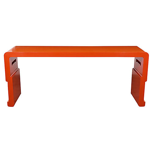 1970s Lacquered Console Table
