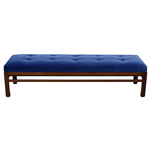 Midcentury Reupholstered Bench