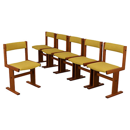 Set of Six Poul Hermann Poulsen Chairs