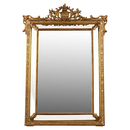 French Louis XVI-Style Mirror, C. 1870