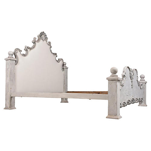Italian Baroque Style King Size Bed