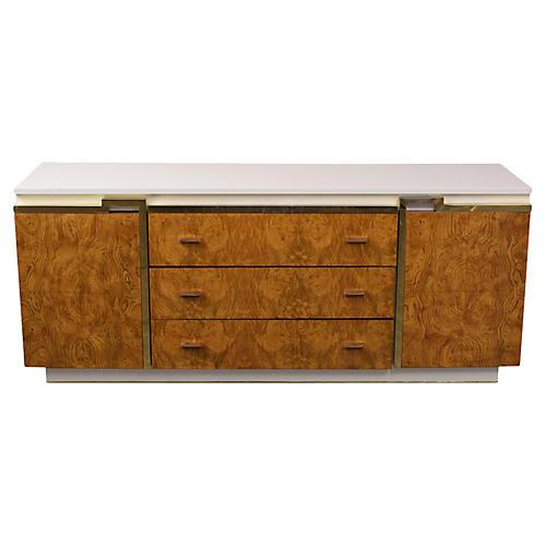Mid-Century Modern Style Burled Dresser