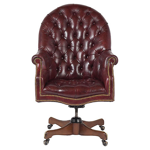 Leather Chesterfield Executive Chair