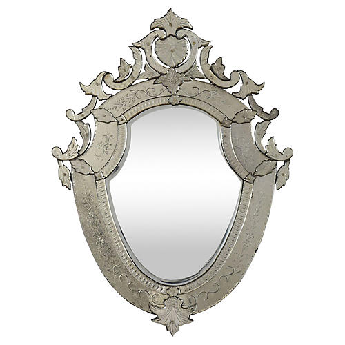 Venetian Style Etched Mirror