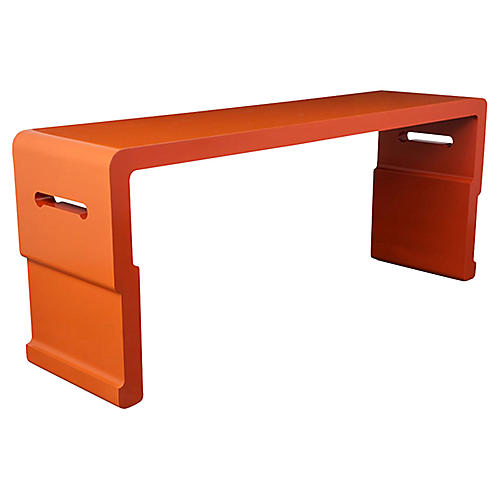 1970's Oriental Lacquered Console Table