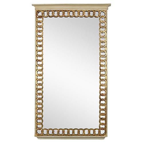 1970s Italian Gilded Wall Mirror