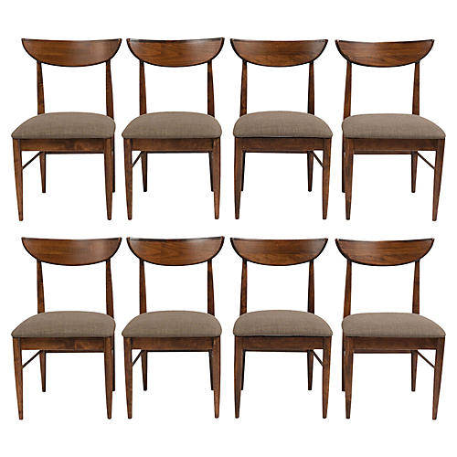 Set of Eight Danish Style Dining Chairs