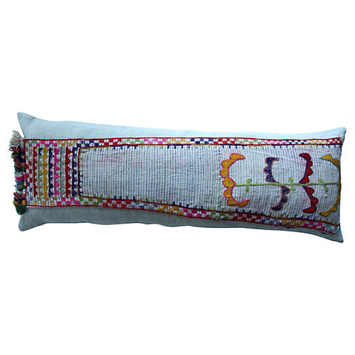 VintageUzbek Embroidered Pillow