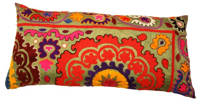 Suzani  Lumbar Pillow