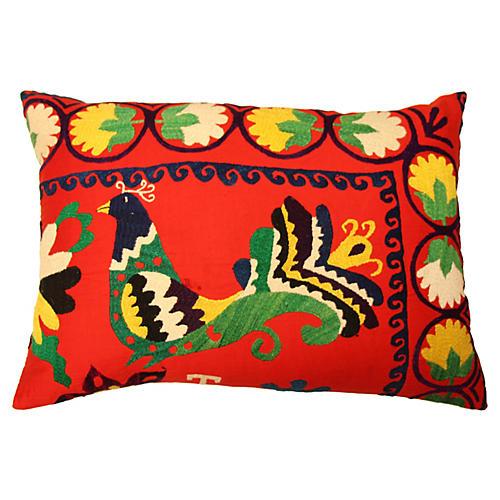 Suzani Bird Pillow