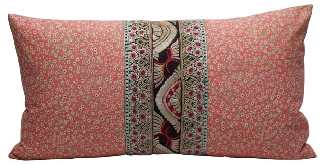 Chinese & French Textiles Pillow