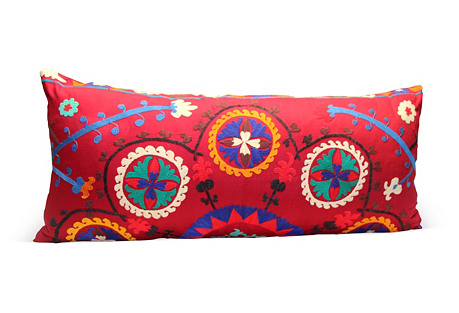 Red Suzani Pillow