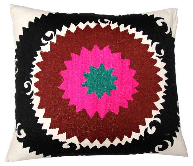 Pink Circle Suzani Pillow