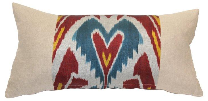 Ikat Heart Pillow
