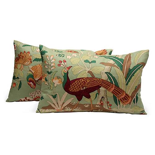 Brunschwig & Fils Bird Pillows, Pair