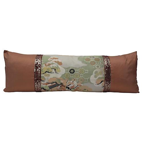 Obi Bird Pillow w/ Indian Trim