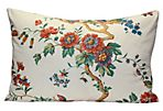 Ivory Chinoiserie Flower Pillow