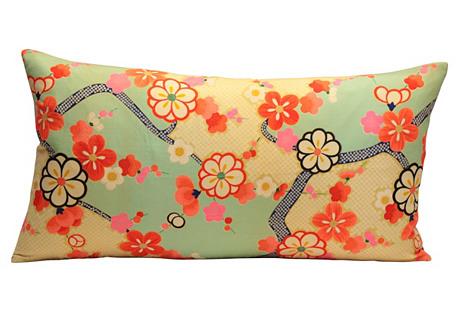 Floral Kimono Pillow