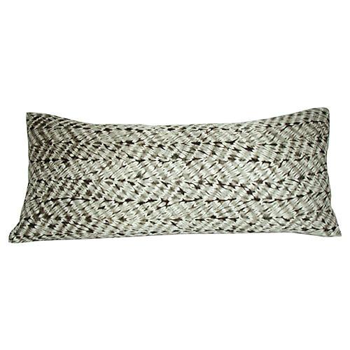 Gray Shibori Pillow