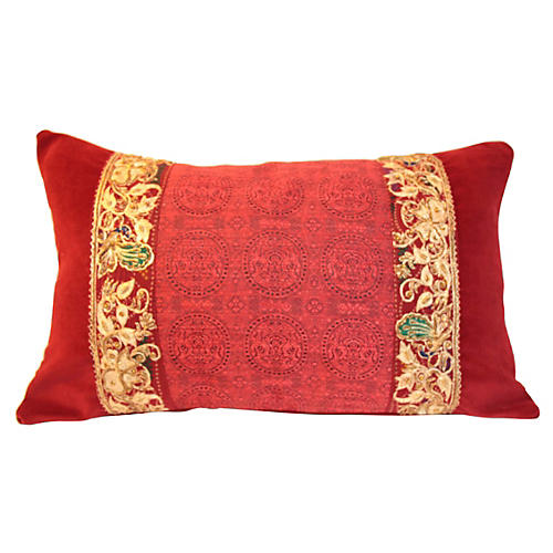 Red Ruby Emperor Pillow