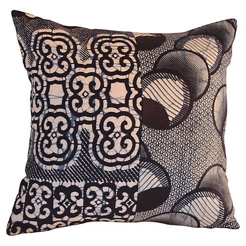 African Batik Pillow