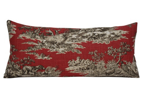 Persimmon Toile Pillow