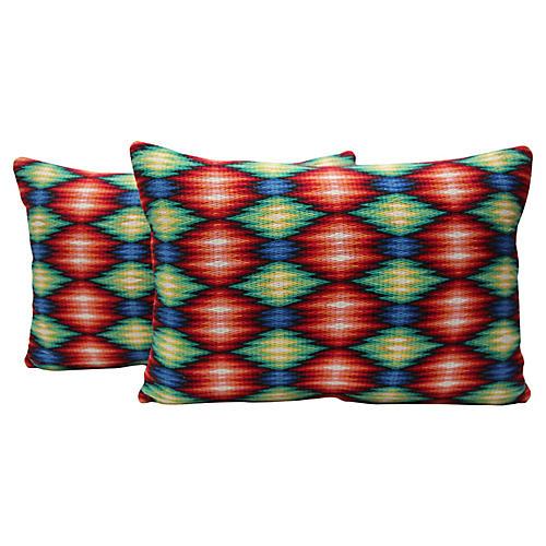 Bargello Pillow, Pair