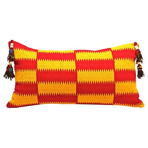 West African Textile Pillow