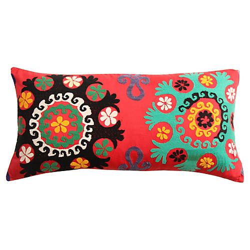Two Flower Suzani Pillow