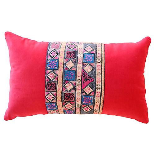 Petit Embroidered Hmong Pillow