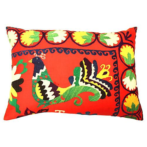 Bird Suzani Pillow
