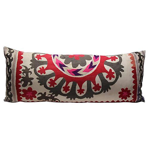 Pink & Gray Suzani Pillow