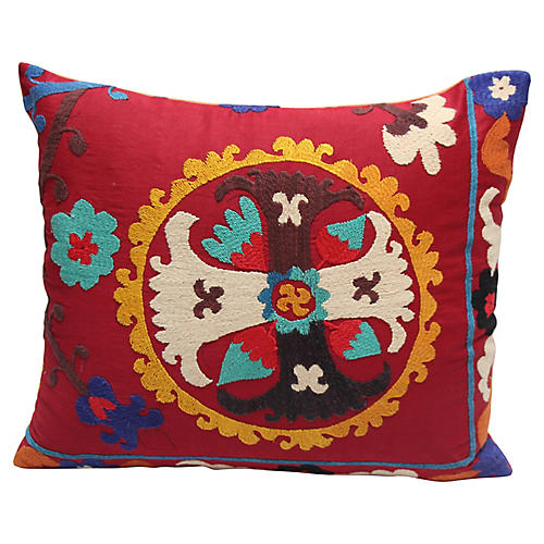 Suzani Cross Pillow