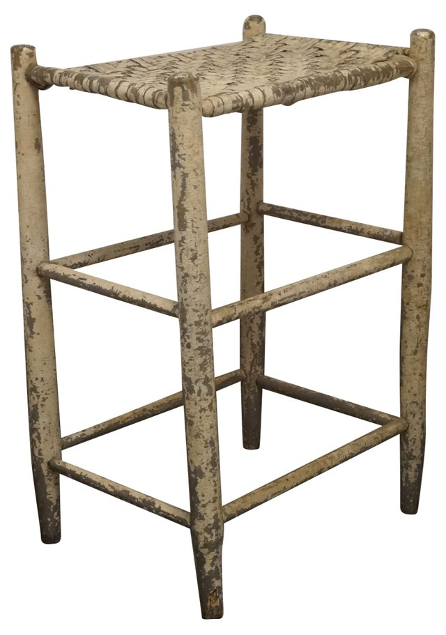 19th-C. American Weaver's Stool