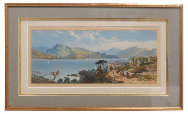 Watercolor of Italian Coast